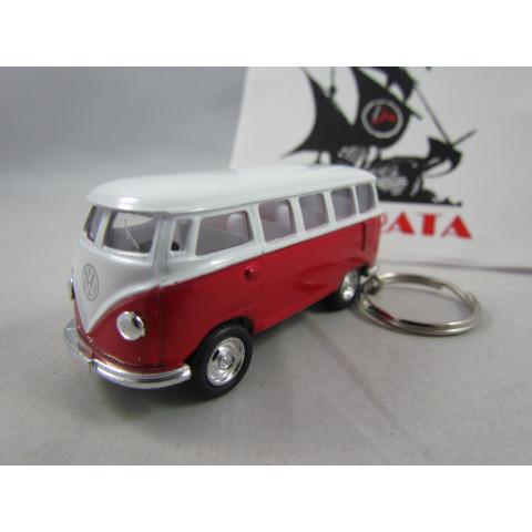 Chaveiro VW Kombi Classical Bus 1962 Vermelho Welly 1:64