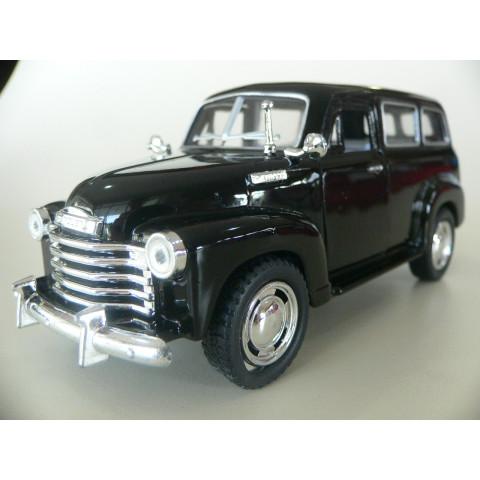 Chevrolet Suburban 1950 Preto Kinsmart 1:36