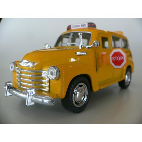 Chevrolet Suburban School Bus Ônibus Escolar Kinsmart 1:36