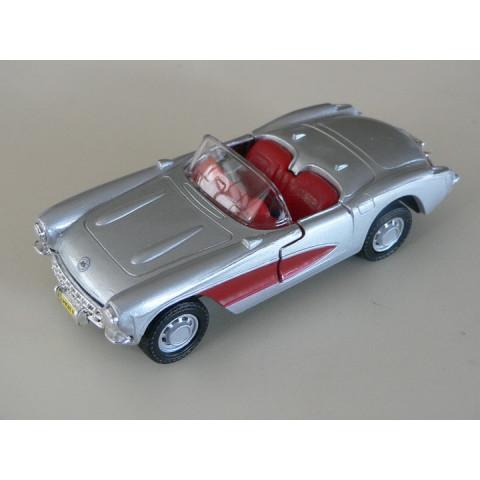 Corvette 1957 Prata/Vermelho Maisto 1:38