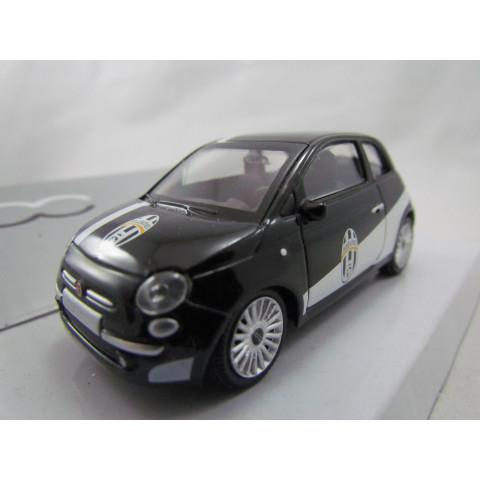 Fiat 500 Preto Juventus Edition Mondo Motors 1:43