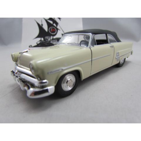 Ford Crestline Sunliner 1953 Fechado Areia Welly 1:40