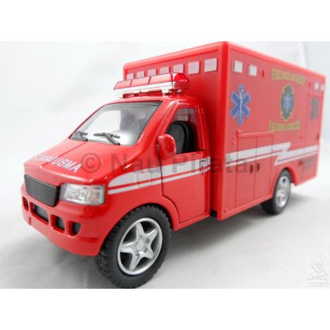 Furgão Ambulância Vermelho 1:43 Kinsmart