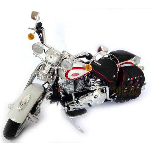 Harley Davidson FLSTS Heritage Springer Branca - Maisto 1:10