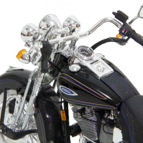 Harley Davidson FLSTS Heritage Springer Preta - Maisto 1:10