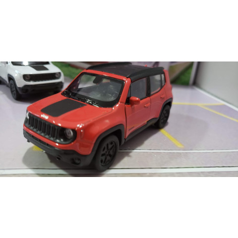 Jeep Renegade Trailhawk 2017 Vermelho Welly 1:38