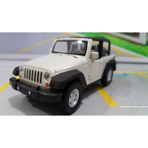 Jeep Wrangler Rubicon Conversível Branco 1:32 Welly