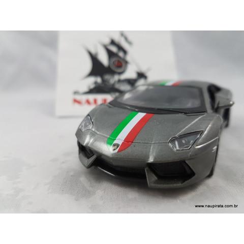 Lamborghini Aventador Lp700-4 Itália Cinza 1:32 Kinsmart