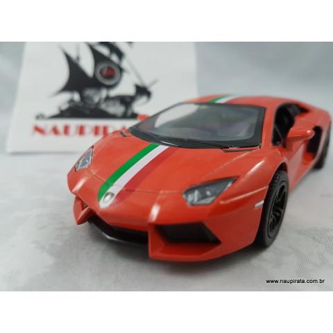 Lamborghini Aventador Lp700-4 Itália Laranja 1:32 Kinsmart