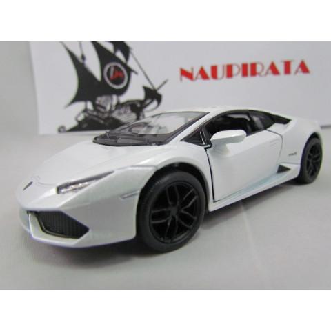 Lamborghini Huracán LP610-4 Branco Kinsmart 1:36