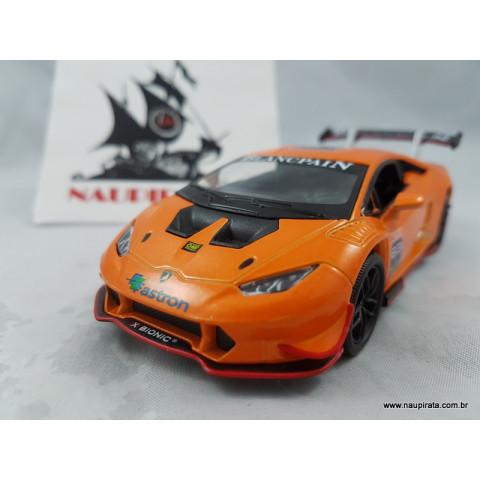 Lamborghini Huracán LP620-2 Super Trofeo Laranja 1:32 Kinsmart