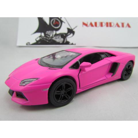 Lamborghini (Matte)  Aventador LP700-4 Rosa Fosco Kinsmart 1:38