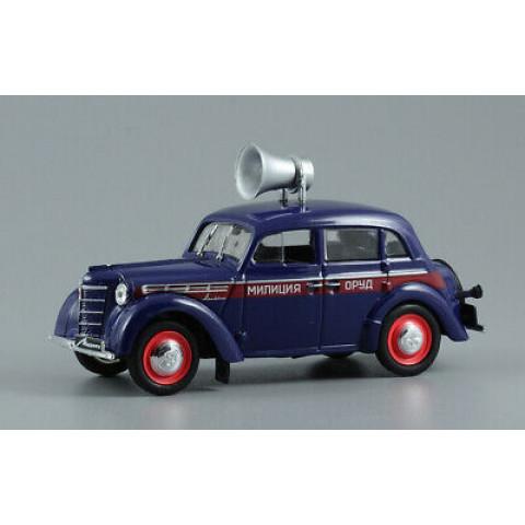 Lendas Russas 855C 1953 Moskvitch 400-420 Police Orud Soviet USRR #02 1:43 IXO