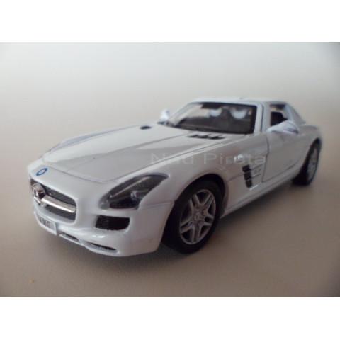 Mercedes Benz SLS AMG Asa de Gaivota Branca 1:36 Kinsmart