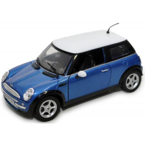 Mini Cooper Azul Motor Max 1:18