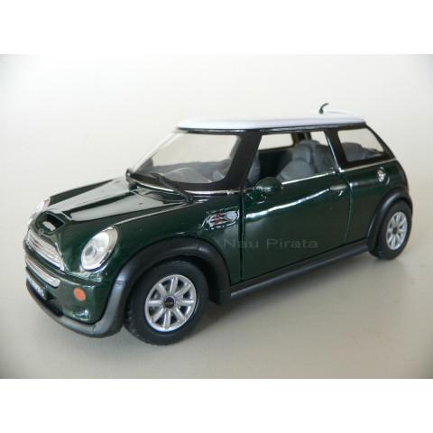 Mini Cooper S Verde Kinsmart 1:28