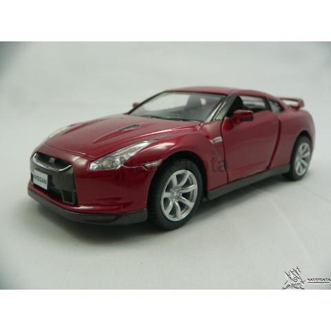 Nissan GT-R R35 2009 Vermelho 1:36 Kinsmart
