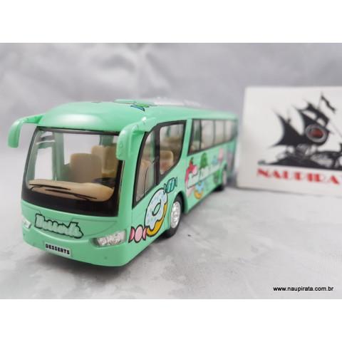 Ônibus Coach Dessert Bus Verde Kinsmart