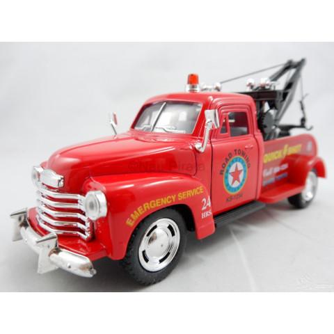 Pickup Chevrolet 3100 Wrecker 1953 Reboque Vermelho - Kinsmart 1:38