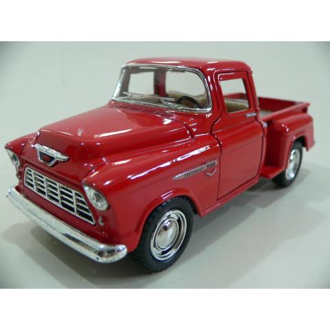 Pickup Chevrolet Stepside 1955 Marta Rocha Vermelha Kinsmart 1:32