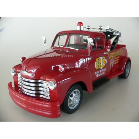Pickup Chevrolet Tow Truck (Reboque/Guincho) 1953 Vermelho Welly 1:24