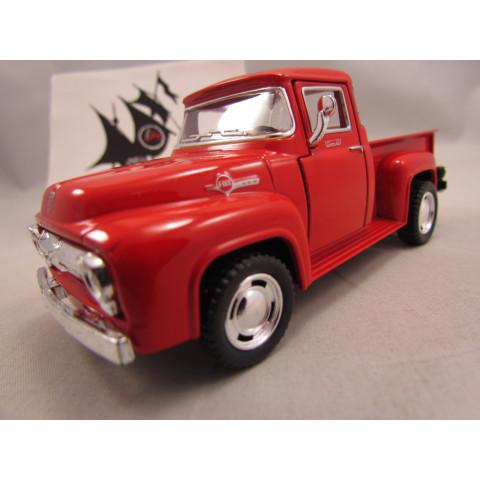 Pickup Ford F-100 1956 Vermelha Kinsmart 1:38