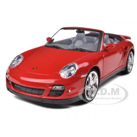 Porsche 911 Turbo Cabriolet Vermelho  Motormax 1:18