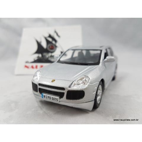 Porsche Cayenne Turbo Prata 1:32 Kinsmart