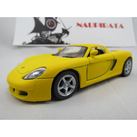 Porsche (Matte) Carrera GT Amarelo Fosco Kinsmart 1:36