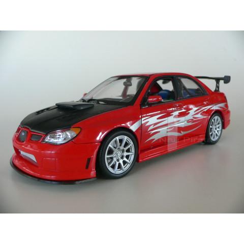 Subaru Impreza Vermelho Tuning 1:24 Welly