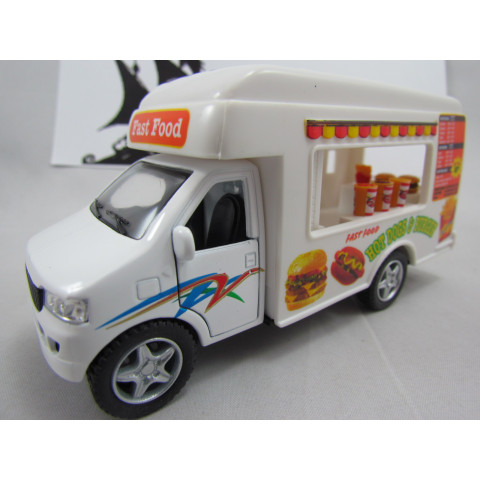 Truck Food Fast Food Caminhão Hamburger Comida Kinsmart 1:40