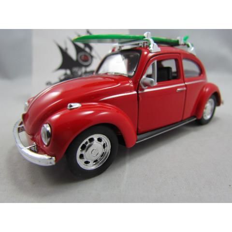 VW Fusca 1972 com Prancha Vermelho Welly