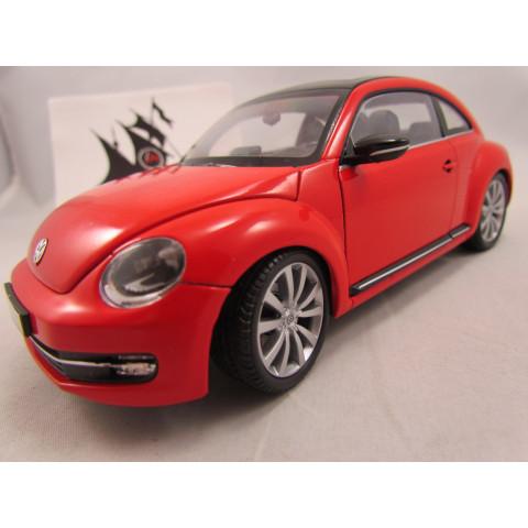 VW Fusca 2014 New Beetle Vermelho 1:24 Welly