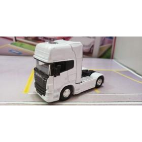 Caminhão Scania V8 R730 Branco 1:64 Welly