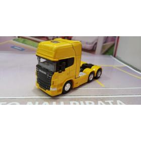 Caminhão Scania V8 R730 Trucado Amarelo 1:64 Welly