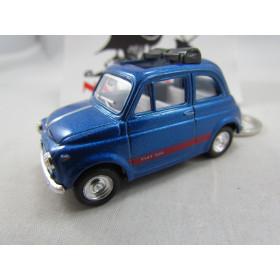 Chaveiro Fiat 500 (Cinquecento) Azul Metálico Kinsmart 1:64