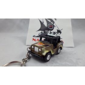 Chaveiro Jeep Militar Marrom MD03 Mini Force Kinsmart