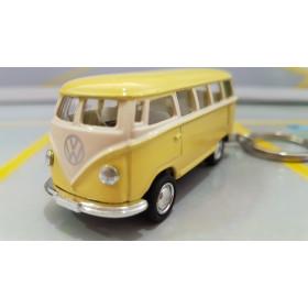 Chaveiro VW  Kombi Classical Bus 1962 Amarelo Bebê 1:72 Kinsmart