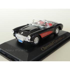 Chevrolet Corvette 1957 Preto/Vermelho - Yatming 1:43