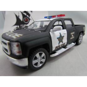 Chevrolet Silverado Pickup 2014 Polícia Kinsmart  1:46