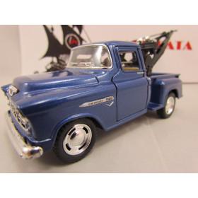 Chevrolet Stepside Marta Rocha Pickup 1955 Azul Guincho Kinsmart 1:38