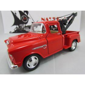 Chevrolet Stepside Marta Rocha Pickup 1955 Vermelho Guincho Kinsmart 1:38