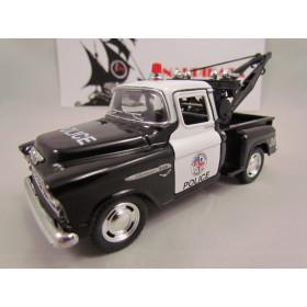 Chevy Stepside Pickup 1955 Polícia Marta Rocha Kinsmart  1:32