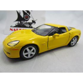 Corvette Z06 2007 Amarelo Kinsmart 1:36