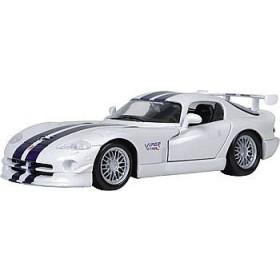 Dodge Viper GTS R Branco/Azul Maisto 1:24