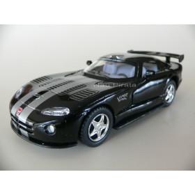 Dodge Viper GTS-R Preto Cinza - Kinsmart 1:36