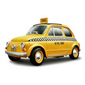 Fiat 500 (Cinquecento) Táxi 1:18 Série Gold  Burago Amarelo
