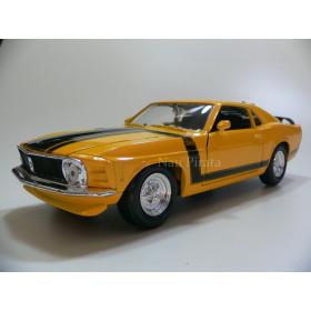Ford Mustang Boss 302 1970 Amarelo Maisto 1:24