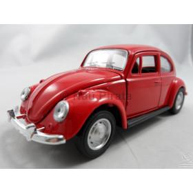 VW Fusca (Old Beetle) 1967 Vermelho Sunnyside 1:32 Abre Capô