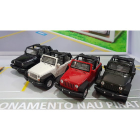 Jeep Wrangler Rubicon Conversível Preto 1:38 Welly